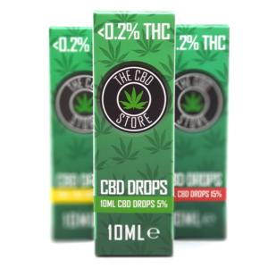 CBD Drops x3 5%, 10%, 15%